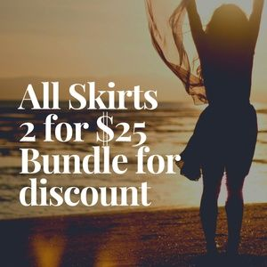 ❤All skirts 2 for $25❤